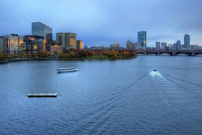 Prudential Center Photograph - Blue Hour On The Charles by Joann Vitali