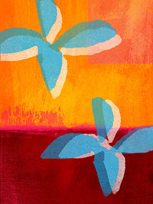 Colorful Abstract Painting - Blue Jasmine by Linda Woods