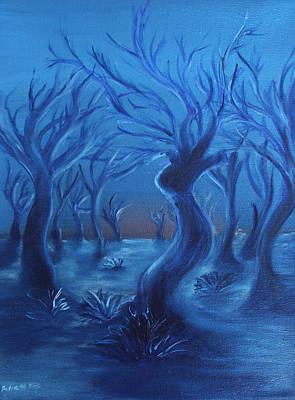 Blue Lady Print by Felix Concepcion