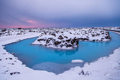 Photograph - Blue Lagoon Cloaked In Snow by John Pike