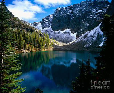 Blue Lake Print by Tracy Knauer