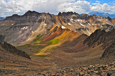 Rocky Mountains Photograph - Blue Lakes Pass by Aaron Spong
