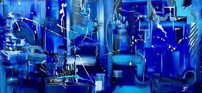 Blue Matters Print by Aarti Bartake