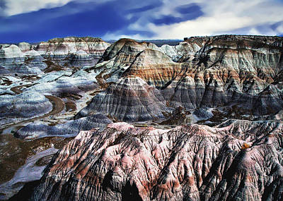 Blue Mesa - Painted Desert Original by Bob and Nadine Johnston