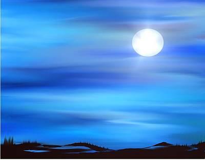 Super Moon Print by Yul Olaivar