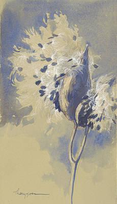 Milkweed Painting - Blue Milkweed by Tracie Thompson