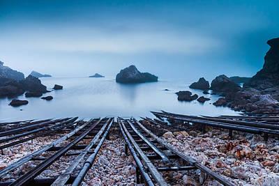 Blue Mist Hour Print by Evgeni Dinev