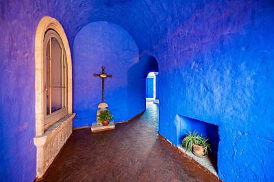 Blue Monastery Interior Print by Jess Kraft