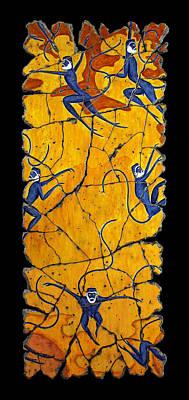 Nature Painting - Blue Monkeys No. 41 by Steve Bogdanoff