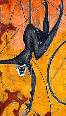 Jungle Painting - Blue Monkeys No. 9 - Study No. 3 by Steve Bogdanoff
