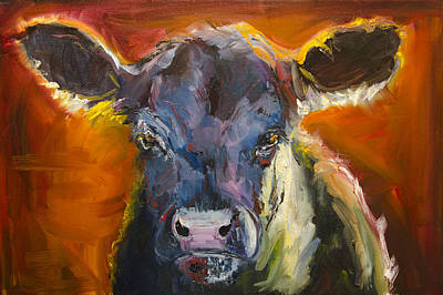 Painting - Blue Moo by Diane Whitehead