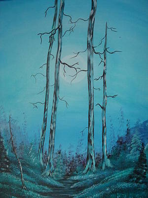 Blue Moon Original by Krystyna Spink