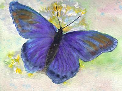 Morph Painting - Blue Morph by Jan Freeman