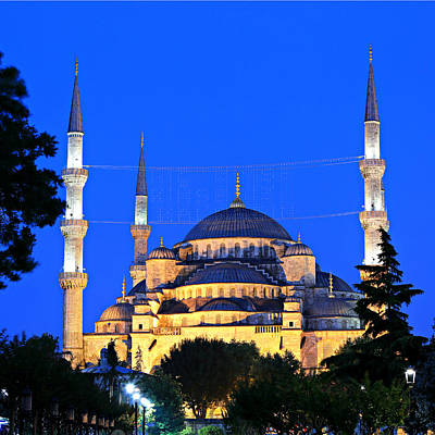 Byzantine Photograph - Blue Mosque At Dawn by Stephen Stookey