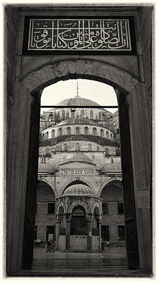 Sultanahmet Camii Photograph - Blue Mosque Entrance by Stephen Stookey