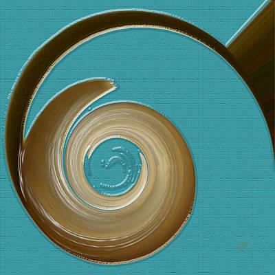 Ben Gertsberg Digital Art - Blue Motion by Ben and Raisa Gertsberg