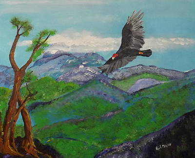 Soaring Painting - Blue Mountain's Jamaica by Rich Mason