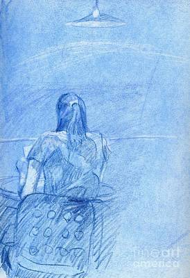 Whistler Drawing - Blue Mystery by Whistler Kenworthy