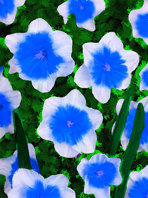 Flowers Painting - Blue Narcisse Riot Flower by Bruce Nutting