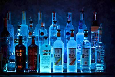 Booze Photograph - Blue Night Shadows by Evelina Kremsdorf