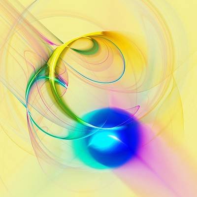Chord Mixed Media - Blue Note by Anastasiya Malakhova