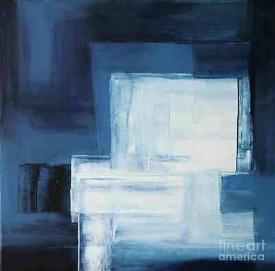 Abstrat Painting - Blue Nuance II by Christiane Schulze Art And Photography