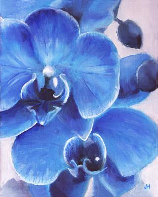 Blue Orchid Original by Joe Maracic