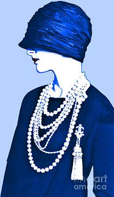 Last Strand Digital Art - Blue Organza Cloche by Maureen Tillman