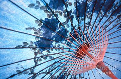 Representative Abstract Photograph - Blue Ornamental Thai Umbrella by Heiko Koehrer-Wagner
