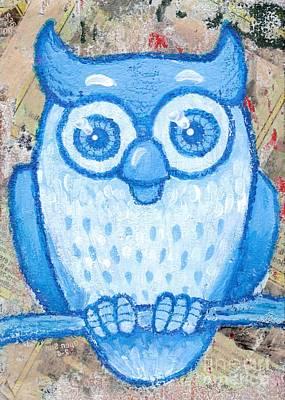 Blue Owl Print by Lucas T Antoniak
