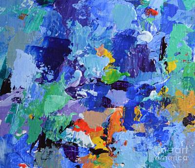 Blue Healer Painting - By Whose Stripes Ye Were Healed - 1 Peter 2 24 - Abstract Painting In Blue by Philip Jones