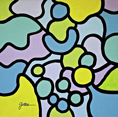 Pawn Painting - Blue Pawn by Jeff Gater