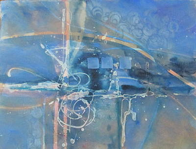 Curvilinear Painting - Blue Peace by Patricia Mayhew Hamm