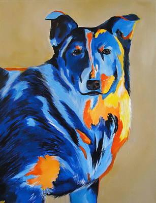 Blue Healer Painting - Blue Pepper by Diana Prickett