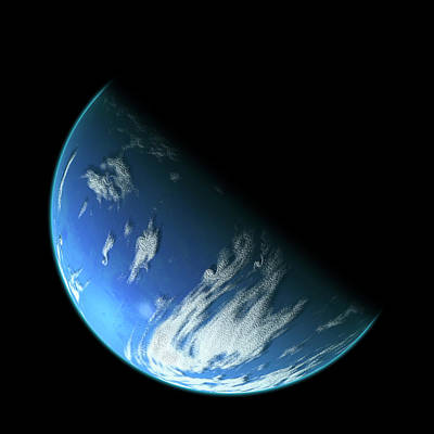Exoplanet Mixed Media - Blue Planet1 by Marc Ward