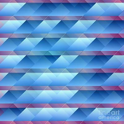 Blue Plastic Bars Print by Gaspar Avila