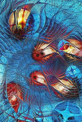 Blue Pond Print by Anastasiya Malakhova