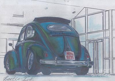 Blue Print Print by Sharon Poulton