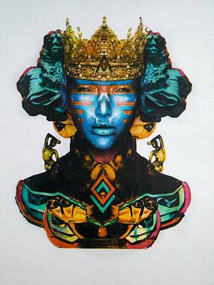Blue Queen Print by Scarlett Gonzalez