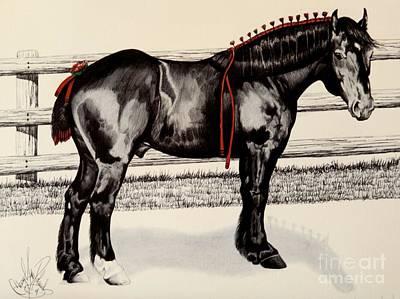 Blue Ribbon Farm Napoleon - Percheron Stallion Print by Cheryl Poland