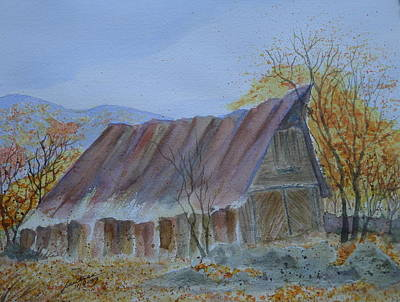 Blue Ridge Barn Print by Joel Deutsch