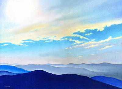 Blue Ridge Blue Above Print by Catherine Twomey