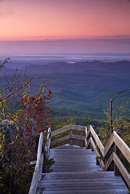 Solitude Photograph - Blue Ridge Morning by Andrew Soundarajan