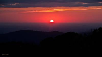 Foliage Photograph - Blue Ridge Mountain Sunrise by Suzanne Stout