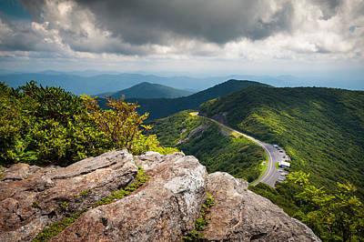 Blue Ridge Parkway - Asheville Nc Craggy Gardens Overlook Print by Dave Allen