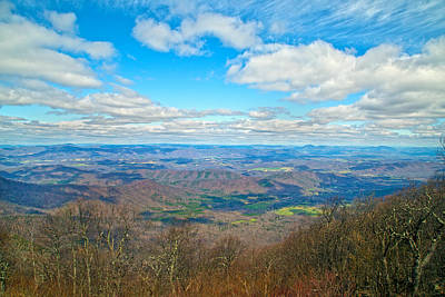 Blue Ridge Parkway Beautiful View Print by Betsy Knapp