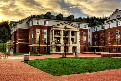 Blue Ridge Residence Hall - Wcu Print by Greg and Chrystal Mimbs