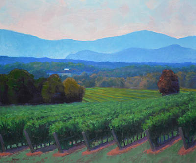 Salamanders Painting - Blue Ridge Views by Armand Cabrera