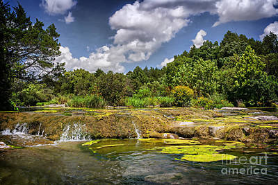 Blue River Water Falls Print by Tamyra Ayles