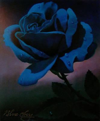 Blue Rose Print by Blue Sky